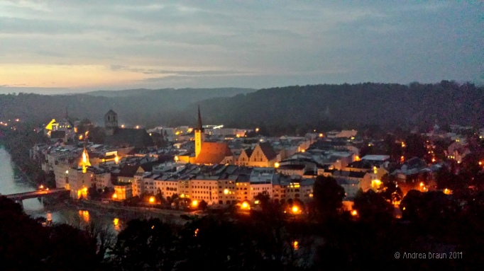 Wasserburg bei Nacht